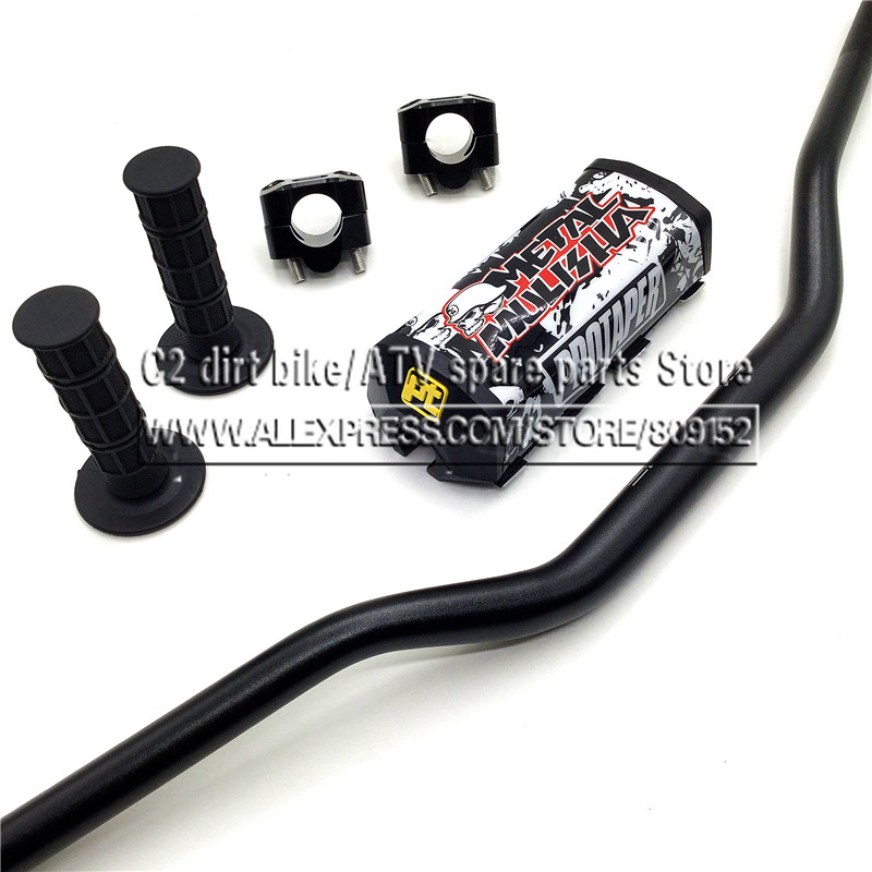 Motorcycle Motocross 1 1/8 28mm Handlebars Kit Fat Bar Handle Tubes For KTM CRF YZF WRF RM KXF Pit Dirt Bike Off-road Enduro motocross dirt bike enduro off road wheel rim spoke shrouds skins covers for yamaha yzf r6 2005 2006 2007 2008 2009 2010 2011 20