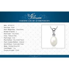 10-8mm Cultured Freshwater Pearl Pendant 925 Sterling Silver Jewelry For Women  Fine Jewelry Not Include a Chain