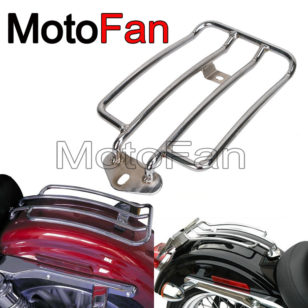 Chrome Motorcycle Rear Fender Luggage Rack 8 Steel For Harley Davidson Sportster XL 883 1200 Roadster 1200R 72 1200V 2004-2018 chrome custom motorcycle skeleton mirrors for harley davidson softail heritage classic