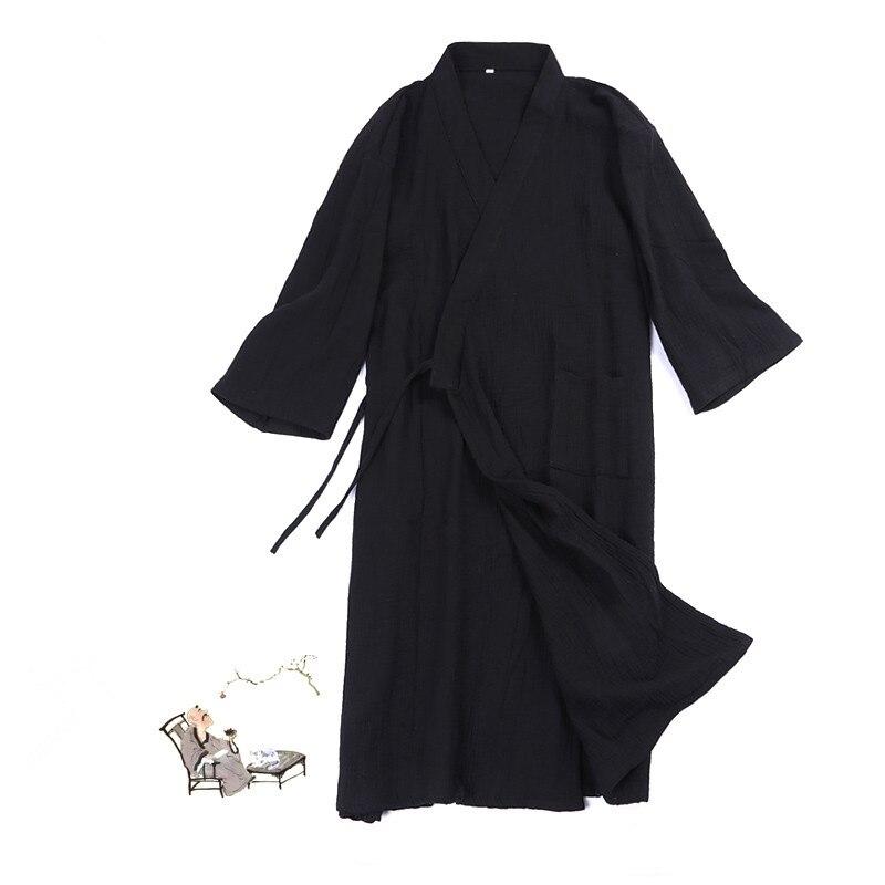 Man's nightgown Cotton short sleeve Kimono robe Japanese kimono(China)