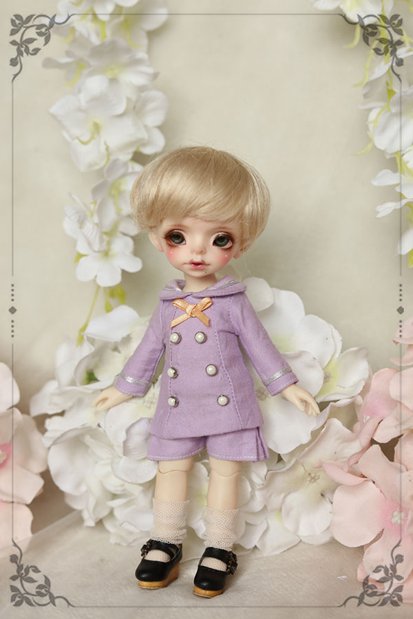 BJD doll clothes suit student Dress uniforms academic suit for 1/8 BJD Blyth doll clothes accessories coat pant socks and