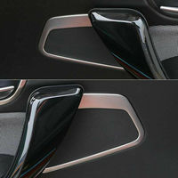 BBQ@FUKA Auto car Interior accessories For BMW 1 Series F20 116i 118i 2013 2014 Stainless Steel Car Door Speaker Cover Trim