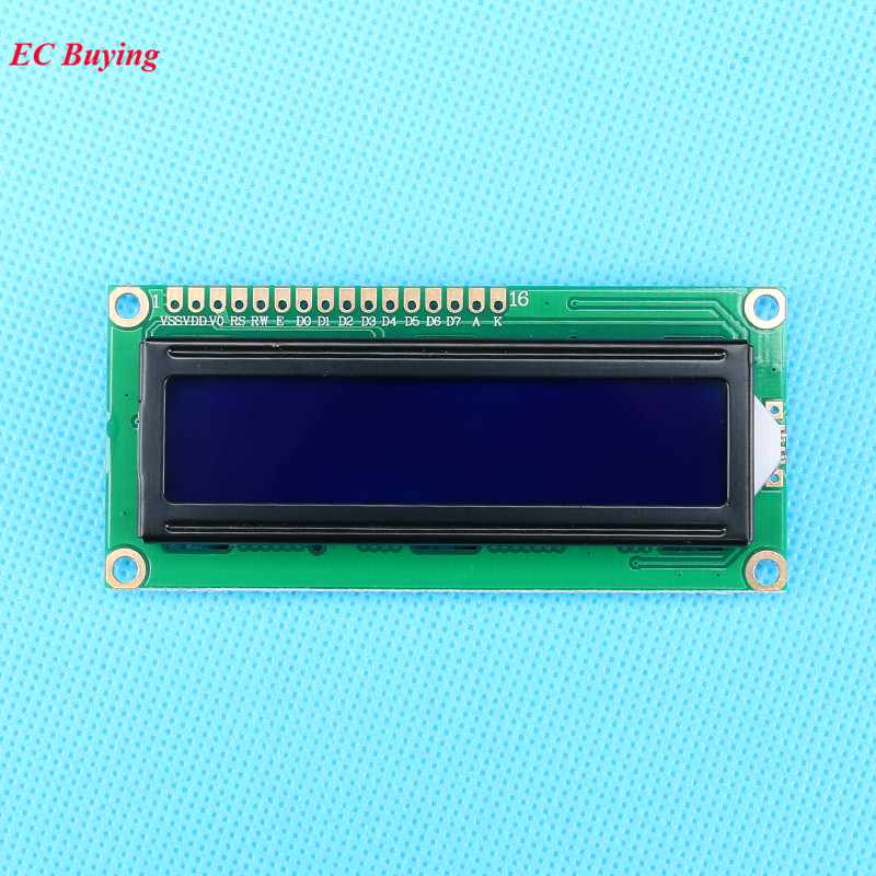 US $1 86 6% OFF|1602 LCD Display Module 5V LCD Display Blue Screen  Universal LCD Controller White Character Backlight 16*2-in LCD Modules from