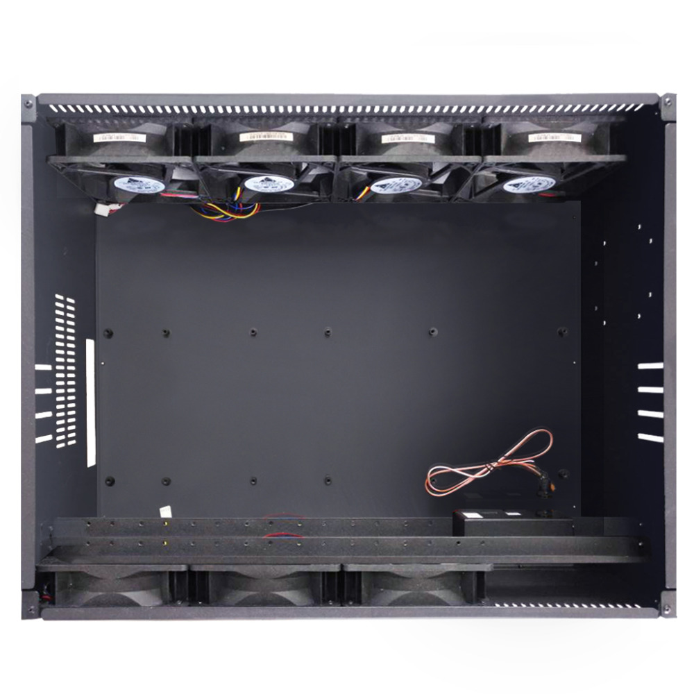 4U GPU Mining Rig Server Case Cryptocurrency Mining Metal Rackmount Case with 4 Fans Pre installed Miner Kit Unassembled