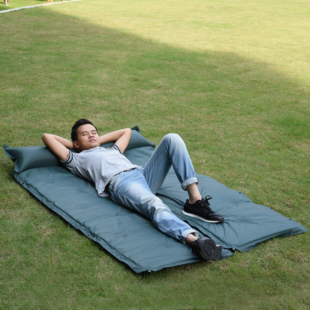 Automatic Inflatable Cushion Outdoor Travelling Sleeping Bed Pad Camping Mat picinic Mattress Self-Inflating
