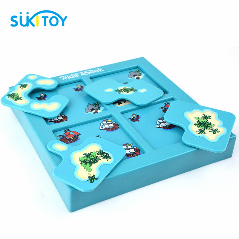 Pirates Hide&Seek IQ Desktop Games With Solution Book Smart IQ Toys For Children Games