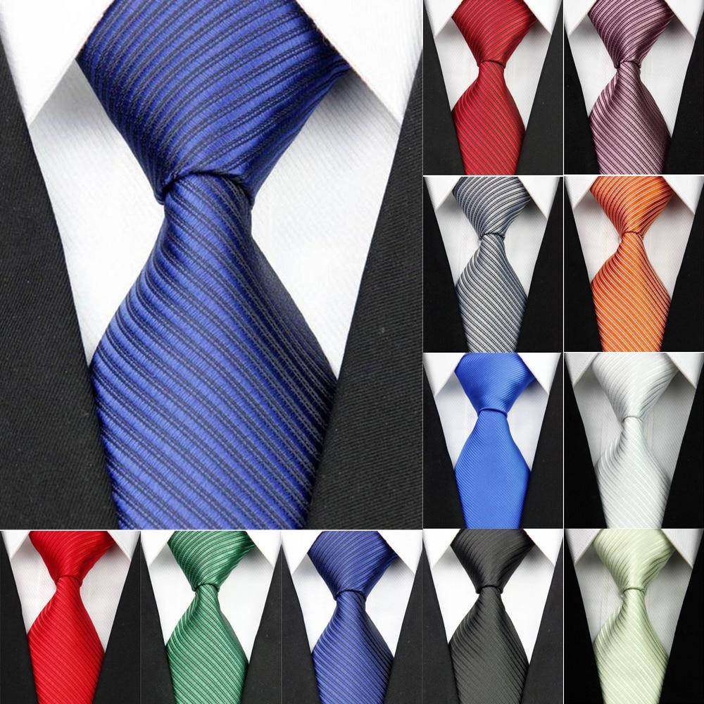 2018 de ancho azul corbatas de seda para los hombres