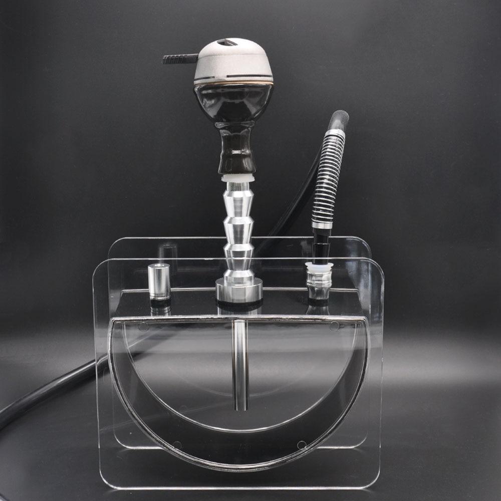 [Frelon] nouveau! Narguilé acrylique narguilé narguilé avec tête de narguilé tuyau en métal porte-charbon Shisha accessoires