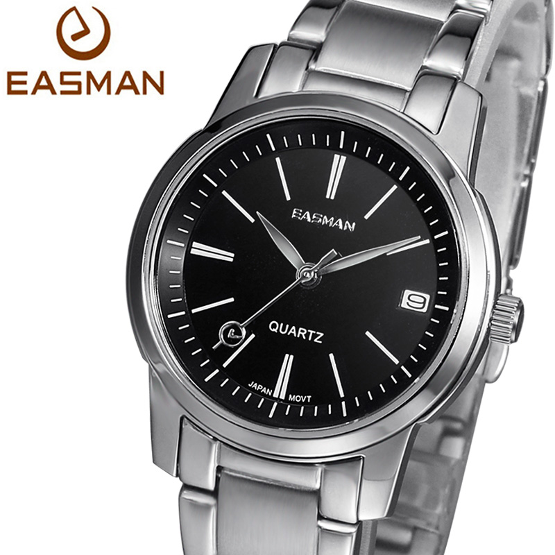 EASMAN Brand Wristwatch Women Watch Fashion Calendar Ladies Watch New Stainless Black Woman Quartz Watch For