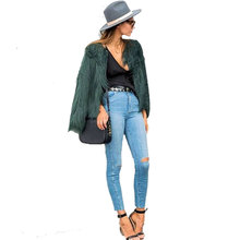 Winter Army Green Faux Fur Women Coat 2017 Warm Long Furry Outwear Coats Fake Fur Females Jacket Coats Plus Size 3XL Clothing