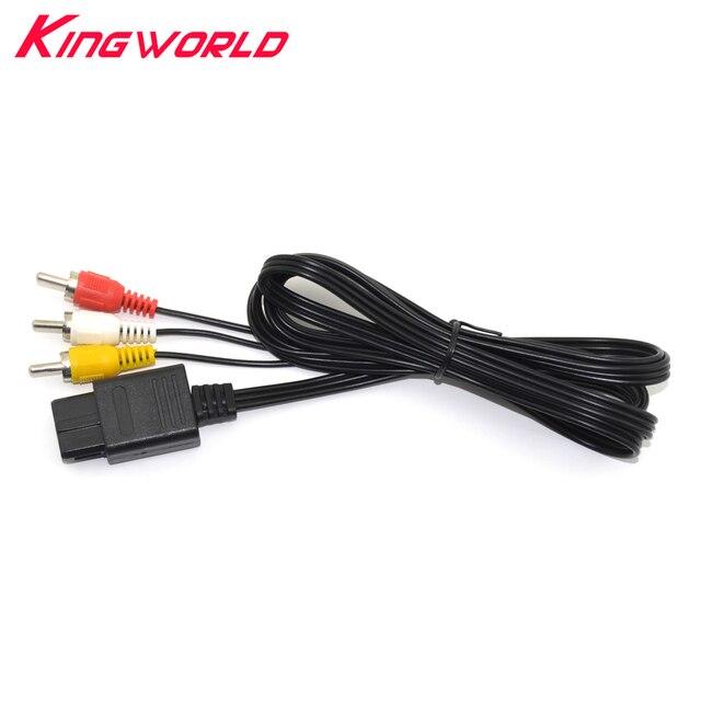 10 pièces haute qualité 3 RCA Audio TV vidéo cordon AV câble pour Nintendo pour N64 pour GameCube GC pour SNES