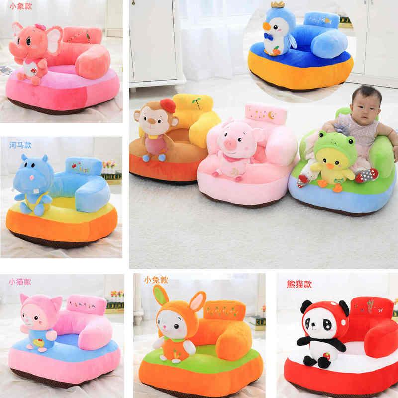 Cartoon animalws panda jouets en peluche assis bébé soutien bébé siège maison canapé wrap pur apprendre assis doux soins infirmiers coton oreiller de voyage