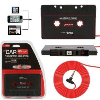 Maytir 110cm Universal Audio adapter taśmowy wtyczka jack 3 5mm czarny samochodowe stereo kaseta magnetofonowa łącznik pośredni do ipoda telefon MP3 odtwarzacz CD tanie i dobre opinie Mayitr 2 5 Angielski Black Tape Adapter 0 03 ABS Plastic 10 x 6cm