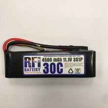 RFI Battery LI-PO 4500mAh 11.1V 30C(Max 60C) 3S Lipo Battery Pack for RC Hobby free shipping