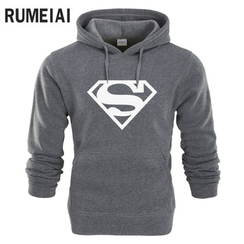 New Superman Hoodie Warm Sweatshirts for Men