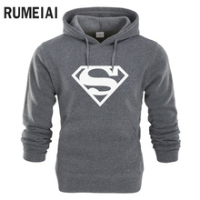 RUMEIAI New Superman Hoodie Batman Hooded Men Casual Cotton Fall / Winter Warm Sweatshirts Men's Casual Tracksuit Costume(China)