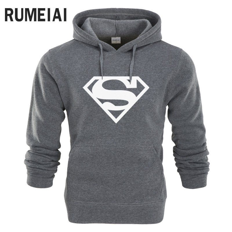 RUMEIAI New Superman Hoodie Batman Hooded Men Casual Cotton Fall / Winter Warm Sweatshirts Men's Casual Tracksuit Costume