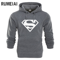 RUMEIAI New Superman Hoodie Batman Hooded Men Casual Cotton Fall Winter Warm Sweatshirts Men S Casual