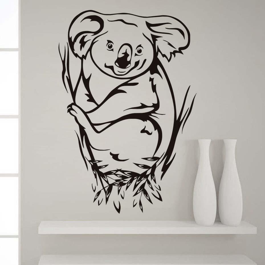 ③Koala oso etiqueta más populares lindos animales decalque de pared ...