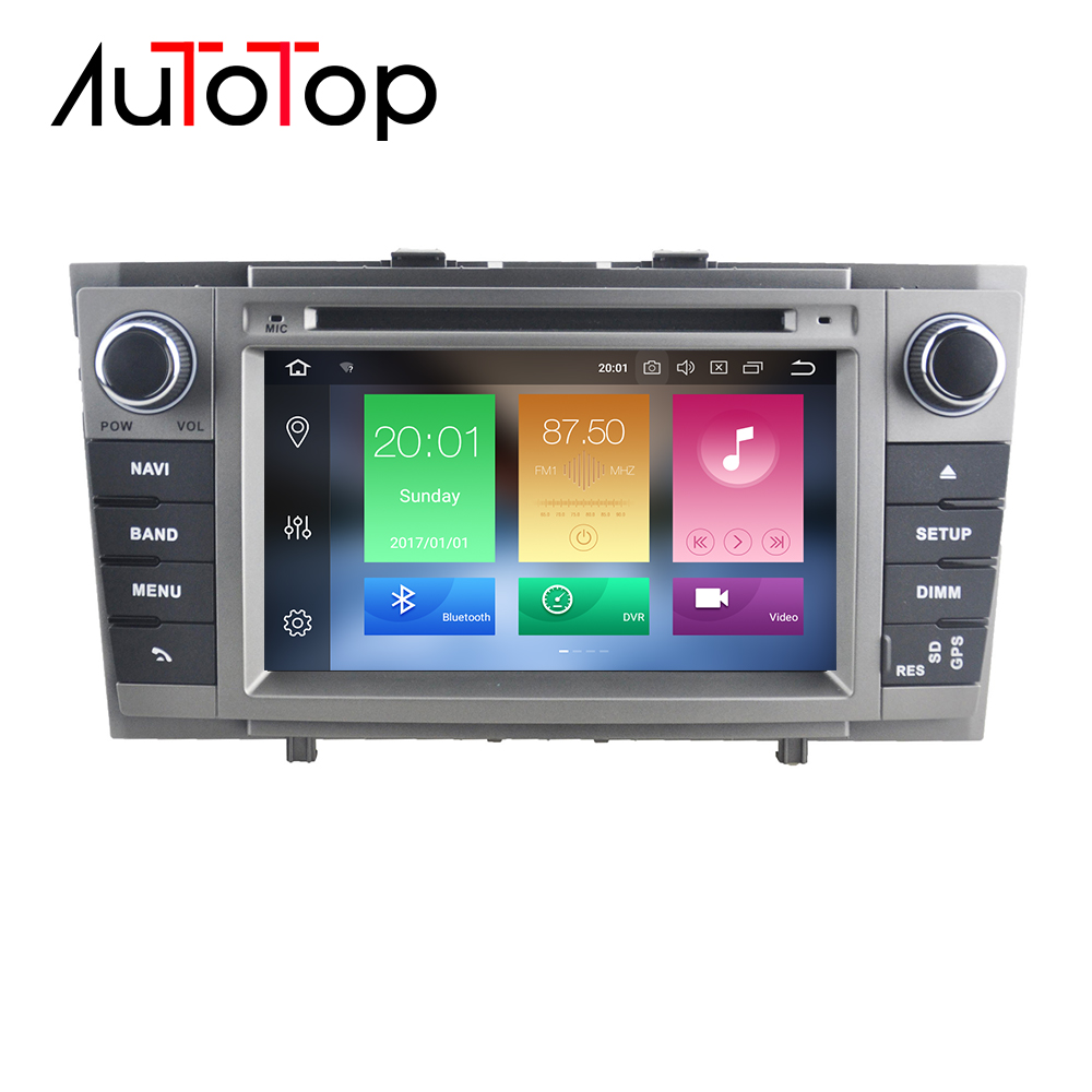 AUTOTOP 2 Din Android 8.0 Car DVD GPS Player For Toyota T27 Avensis 2009-2015 Auto Audio Stereo Headunit GPS Navigation WiFi RDS