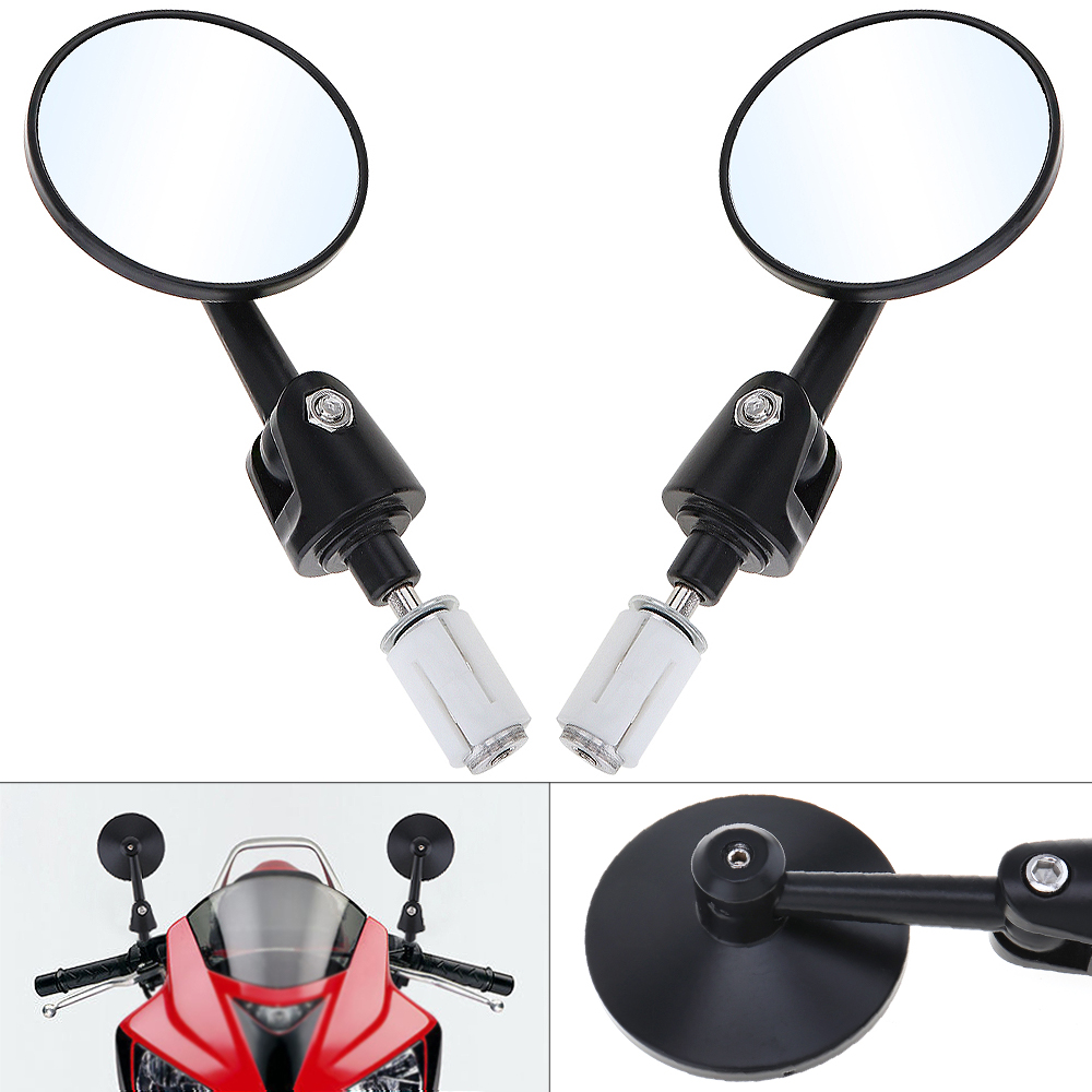 2pcs  Motorcycle Side Mirrors 10mm Modified Universal Plastic Shell Aluminum Rod Rearview for Motorbike