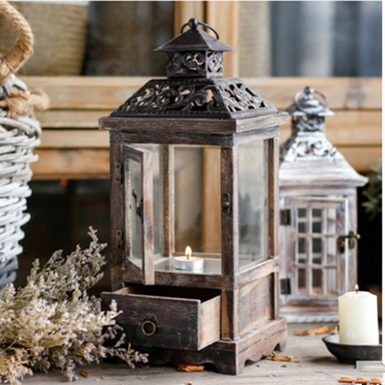 Vintage House Model Christmas Gift Cheap Candle Holder Lantern Candlestick Home Candle Rack Wedding Gifts New