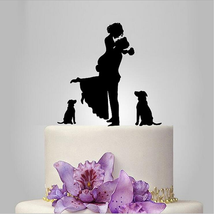 dog wedding cake topper unique wedding cake topper cake toppers with groom 13686