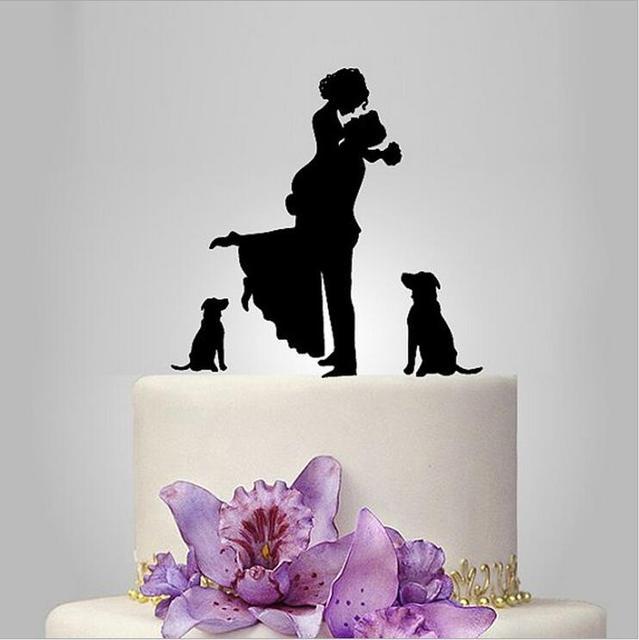 Unique wedding cake topper dog cake toppers with groom lifting unique wedding cake topper dog cake toppers with groom lifting bride funny wedding cake junglespirit Gallery