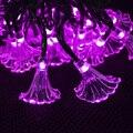 Rosa Flor Luces de La Secuencia Solar Luces de Hadas del Jardín de La Decoración de Navidad Luces Solares Al Aire Libre A Prueba de agua 30 LED Lámpara Decrorative
