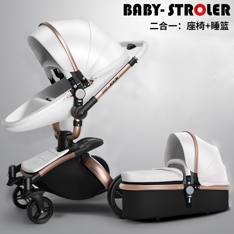 037a46edb123 US $292.19 39% OFF|AULON Baby Stroller 3 in 1 With Car Seat High Landscope  Folding Baby Carriage For Child From 0 3 Years Prams For Newborns-in Four  ...