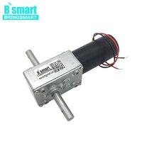 Bringsmart DC Gear Worm Motor 12V 24V Double Shaft Mini Motors Reversed Self lock For Automatic Clothes Hanger 5840 31zy