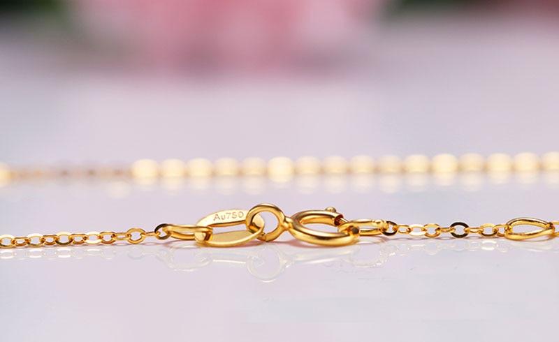 18k Au750 gold chain bracelet (9)