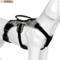 Professional Nylon Large Dog Training Vest Harness Outdoor Safety Reflective Pet Chest Strap Adjustable Quick Control Harnesses