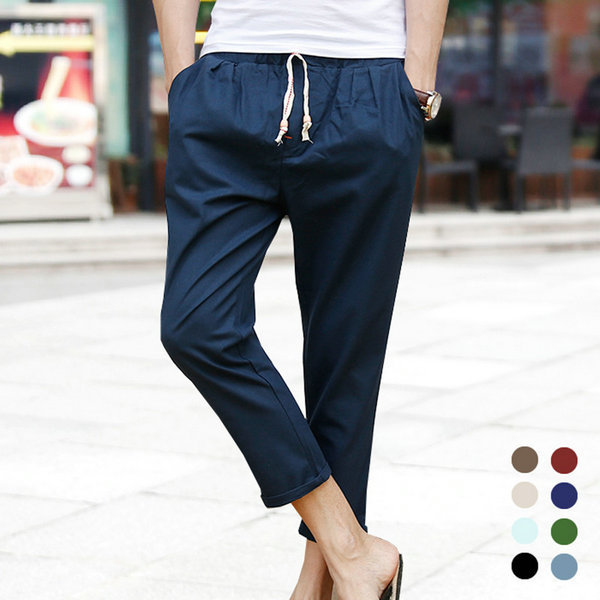 dbb93619ddf 2017 Summer Hot Linen Men Pants Casual Ankle length Male Trousers  Sweatpants Men (Asian Size)-in Harem Pants from Men s Clothing on  Aliexpress.com