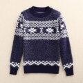 Meninos Colete de Malha Camisola do Inverno Meninos Casuais Cardigan Blusas De Lã Padrão Bebê Camisola Dos Miúdos Das Crianças Meninos Vestuário Tops