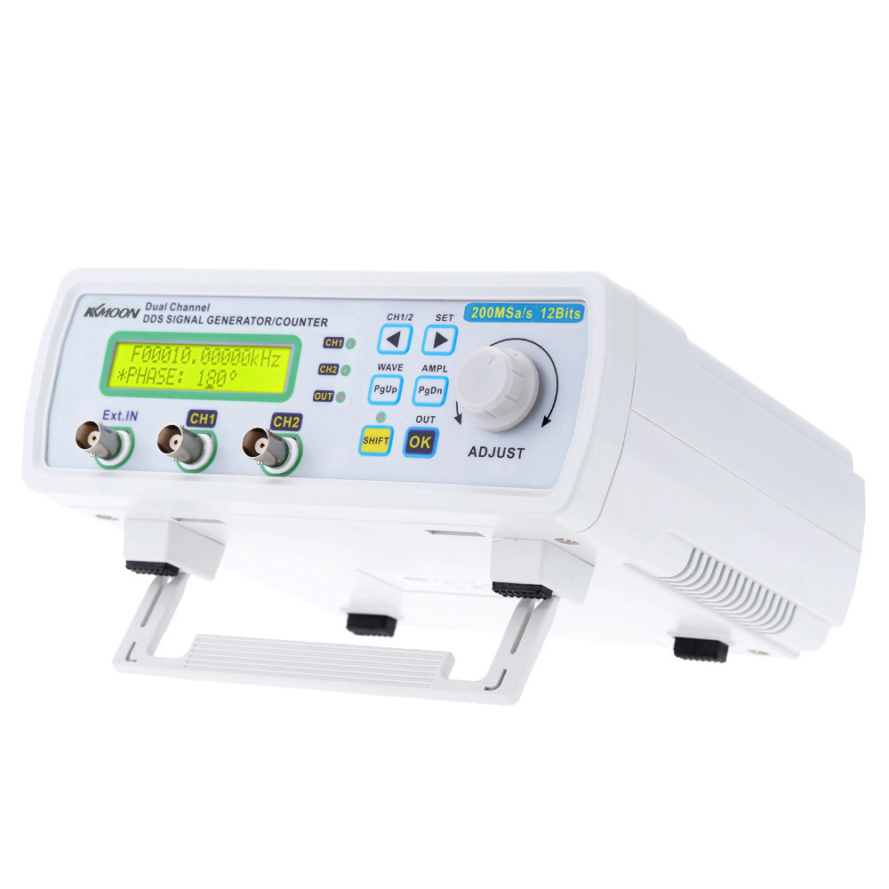 Kkmoon générateur de signal générateur de fonction numérique DDS générateur de Source de Signal compteur de fréquence de forme d'onde arbitraire 200MSa/s 25MHz