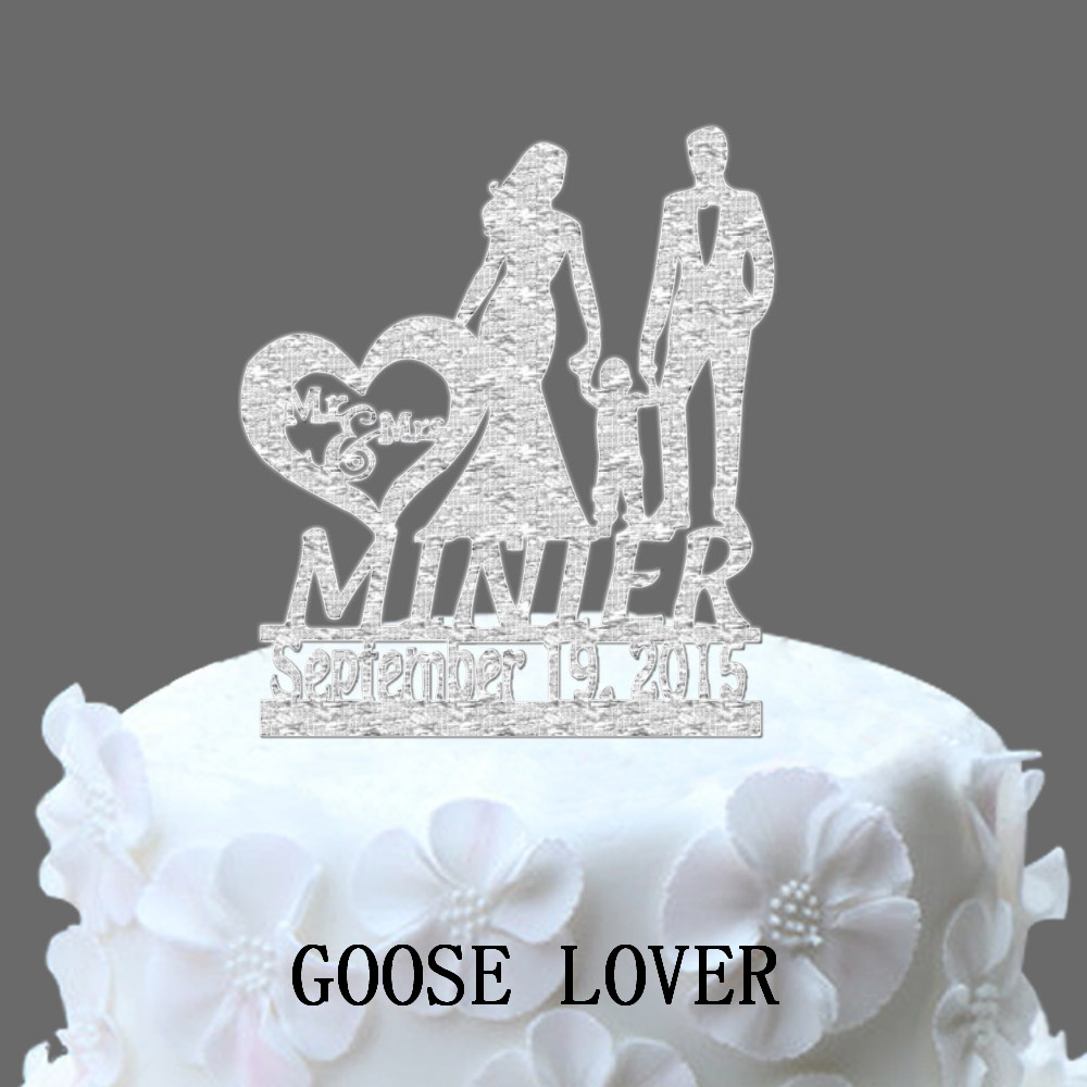 wedding cake topper name and date personalized name date wedding cake topper silhouette 26363