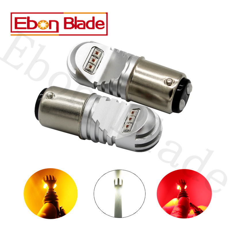 2Pcs 30W 12V-24V Canbus 1157 BAY15D Cree XBD Chips White Amber Red Car Light Bulb P21/5W LED BULBS CANBUS OBC No Error Signal 30w amber orange canbus error free cree chips led t20 7440 w21w led car turn signal light bulb