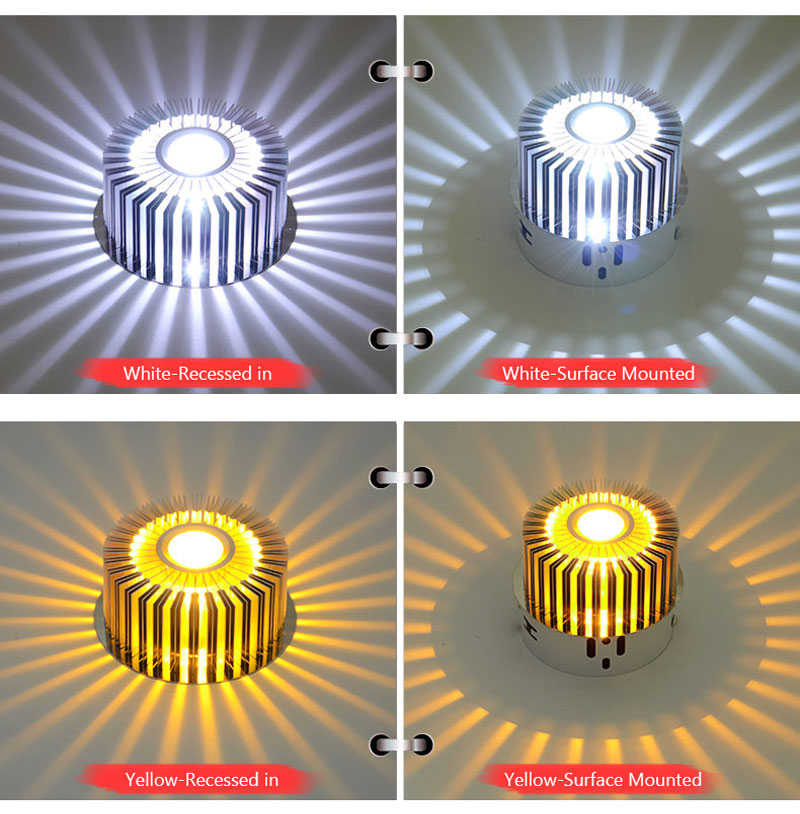 Modern LED Ceiling Light 3W Wall Sconce For Hotel KTV Art Gallery Decoration Balcony Lamp Porch Light Corridors Light Fixture (13)