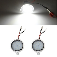 1 Pair LED Side Rear View Mirror Puddle Lights For Ford Focus F 150 Raptor Edge