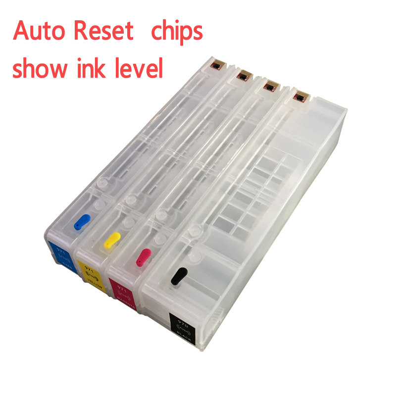 4colors empty Replacement ink cartridges printer ink cartridges for hp 970 971 with hips