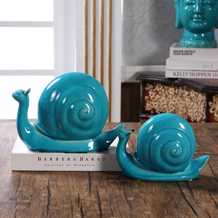 фигурка улитки - Porcelain Snail Lovers Figurine Glazed Ceramics Escargot Couple Model His-and-hers Decoration Art and Craft Ornament Present