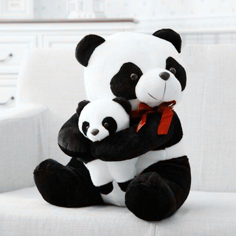 CXZYKING Large Size Mother And Child Panda Plush Toys Cartoon Bear Stuffed Plush Animals Doll Birthday Gift fancytrader biggest in the world pluch bear toys real jumbo 134 340cm huge giant plush stuffed bear 2 sizes ft90451