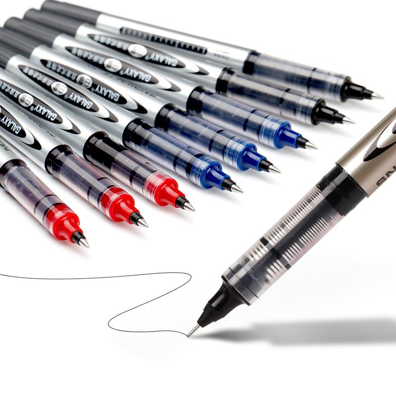 Straight Liquid Type Ballpoint Pen Fine Point Roller Pen (0.5mm) Bullet Tip Office School Gifts