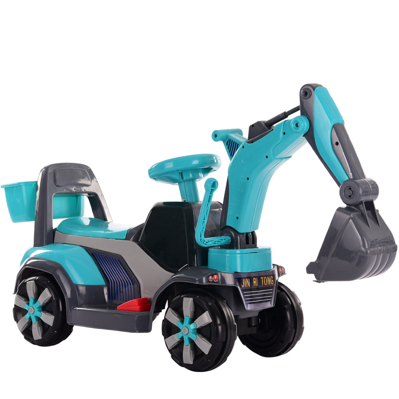 2019 New Children's Electric Excavator Can Sit and Ride on Toy Car Large Music Baby Digging Machine Baby Scooter 2-6Y