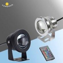 12В 10 Вт Светодиодный прожектор светильник подводный светодиодный светильник IP68 Водонепроницаемый белый/теплый белый/RGB напольный светильник Fountain бассейн лампы
