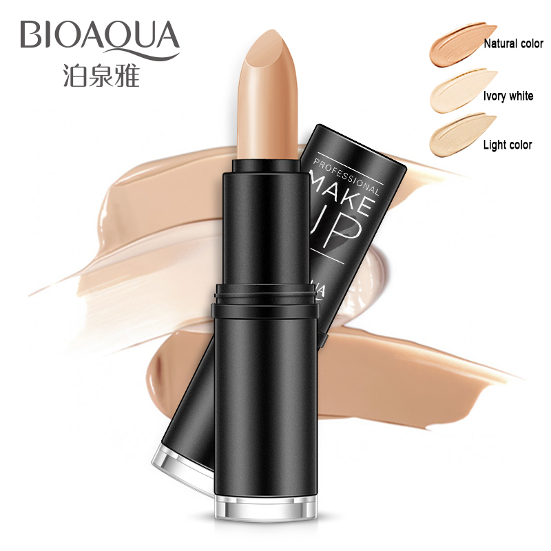 3.8g BIOAQUA Modified Concealer Pen Face Makeup Cover Dark Circles Acne Spot Easy Color Concealer Cream Foundation Long Lasting