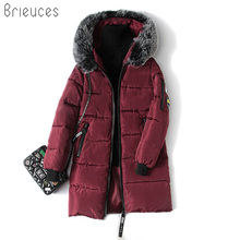 Fashion Snow Wear Large Fur Collar Ladies Coats 2017 Winter Coat Women Parka Long Thick Slim Womens Coats And Jackets Outerwear snow wear large fur collar coat women parka long 2017 winter parkas female thick warm ladies jackets and coats outerwear brown z