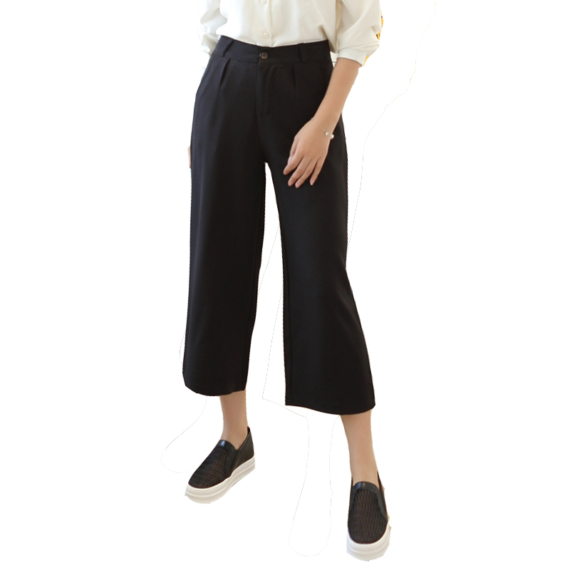 Aliexpress.com : Buy High waisted cropped wide leg pants for women ...