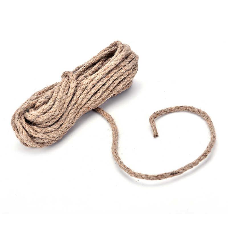 1 PZ 10 M * 6 MM di Alta Qualità Partito DIY di Favore cordone di iuta Festival Decor Canapa naturale Corda di Iuta pet pareggio Stringa di Spago Intrecciato corda di Iuta